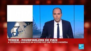 Pourparlers de paix au Yémen : A. Guterres annonce un accord sur une trêve à Hodeïda