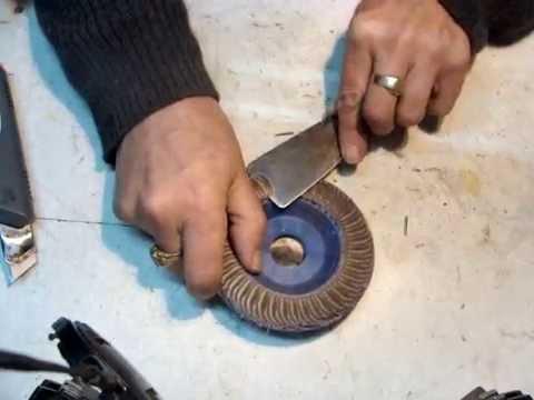 Reutilizacion de disco de lija para amoladora reuse - Disco madera amoladora ...