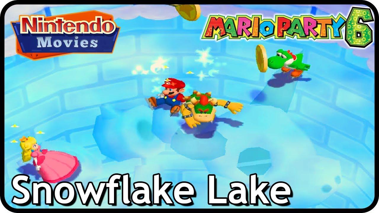 Mario Party 6 - Snowflake Lake (2 Players, 50 Turns, Mario vs Yoshi vs Koopa Kid vs Peach)