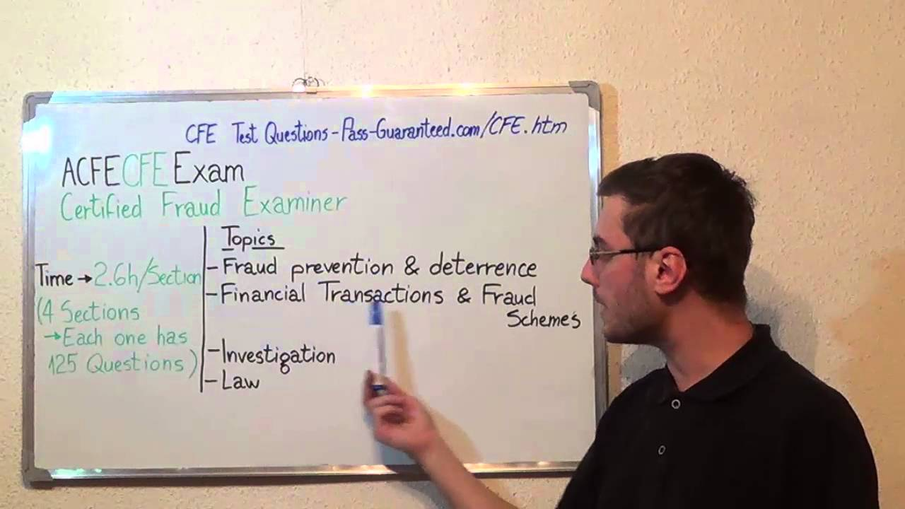 Cfe Certified Exam Fraud Test Examiners Questions Youtube