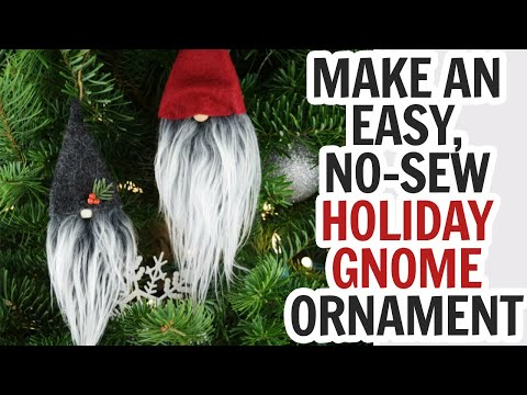 Christmas Gnome Ornament  - DIY Swedish Gnomes