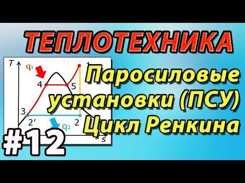 Основы теплотехники. Паросиловые установки. Цикл Ренкина. Диаграмма водяного пара. Лекция №12
