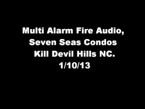 Multi Alarm Fire Audio from Kill Devil Hills NC, 1/10/13