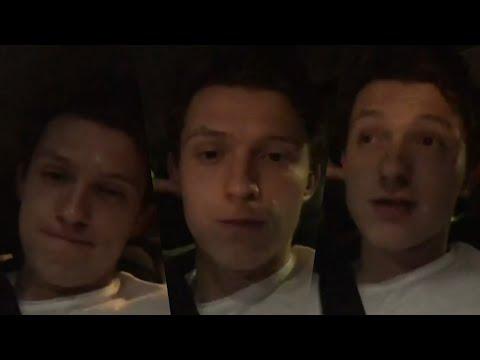 Tom Holland Dancing in Car ( New Instagram Stories )