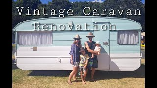 Vintage Caravan Renovation • The full process - before & after • Full Time RV Travelling Family