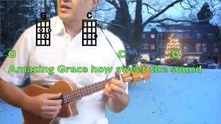 Ukulelevis: Amazing Grace, ukulele song chords, lyrics, key of G