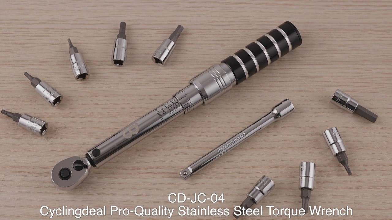 CyclingDeal 1//4 Inch Bike Bicycle Drive Click Torque Wrench Range 5-25Nm