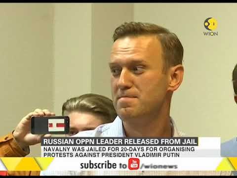 Russian opposition leader released from jail after 20 days