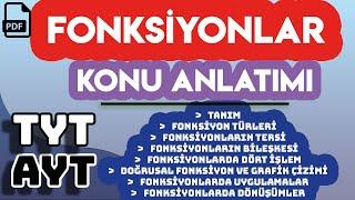 FONKSİYONLAR  KONU ANLATIMI  +PDF  TYT - AYT TEK VİDEO