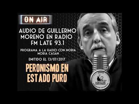 Guillermo Moreno con Moria en FM Late 93.1 13/07/17