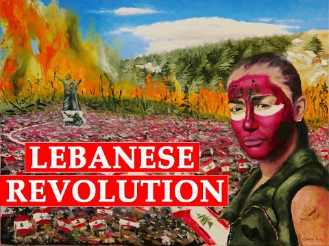 """LEBANESE REVOLUTION Painting """" by artist Ghady Helou, EPISODE 4"""