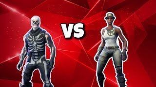 1v1 vs RAREST SKIN IN FORTNITE! (Skull Trooper vs Recon Expert!)