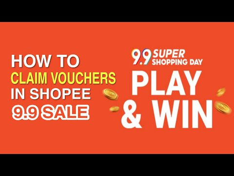 How to CLAIM DISCOUNT VOUCHERS for SHOPEE 9.9 SALE | Step by Step