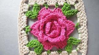 РОЗА в квадрате ROSE squared Crochet