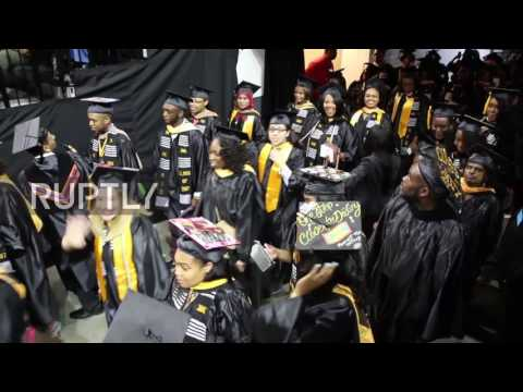 USA: Hillary Clinton's speech at Medgar Evers College marred by protests
