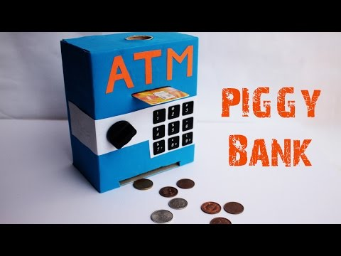 How to make an MINI ATM PIGGY BANK at Home - Easy-to-Make - Just 5 mins