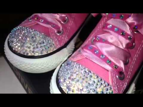 afffca808b9427 💞🎀customised crystal bling baby child toddler girl all st - YouTube