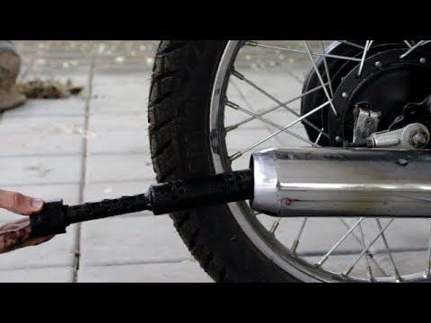 How to clean Muffler   Yamaha Rx 100   Two wheeler