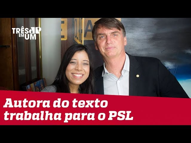 Texto difamatório contra jornalista foi assinado por assessora de deputado do PSL