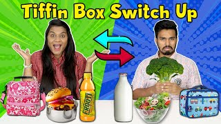 Tiffin Switch Up Challenge Part 2 I Lunch Box Exchange Competition Part 2
