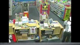 Hampton CVS robbery surveillance video