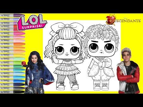 LOL Surprise Dolls Repainted as Disney Descendants Evie and Carlos LOL Surprise Makeover