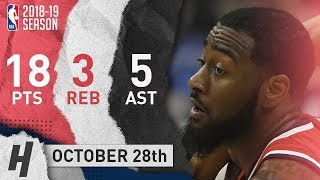 John Wall Full Highlights Wizards vs Clippers 2018.10.28 - 18 Pts, 5 Ast, 3 Rebounds!