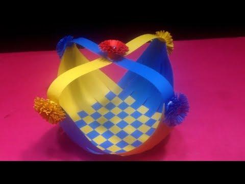 DIY Paper Weaving Basket - Best Paper Craft