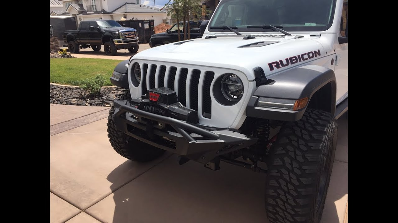 medium resolution of front bumper and winch install jeep jl addictive desert designs warn winch