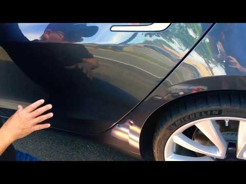 Tesla Dent Repair using Glue Pulling! 2018 Tesla S Dual Motor #Tesla #undented #pdr