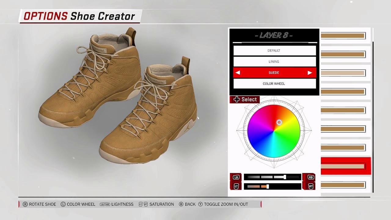 NBA 2K18 Shoe Creator - Air Jordan 9 Custom