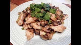 S2Ep79-Fish Fillet with Mushrooms and Rice Wine 米酒蘑菇魚片