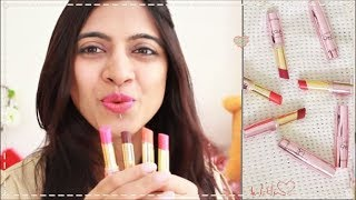 NEW _ Lakme 9 to 5 Primer + Matte Lipstick | Swatch & Review _ 30 Shades! | SuperWowStyle Prachi