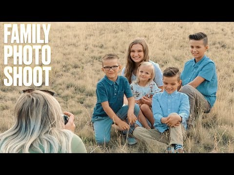 SCENIC FAMILY PICTURES IN GOLDEN MEADOW AT SUNSET | BINGHAM FAMILY PHOTO SHOOT 2018
