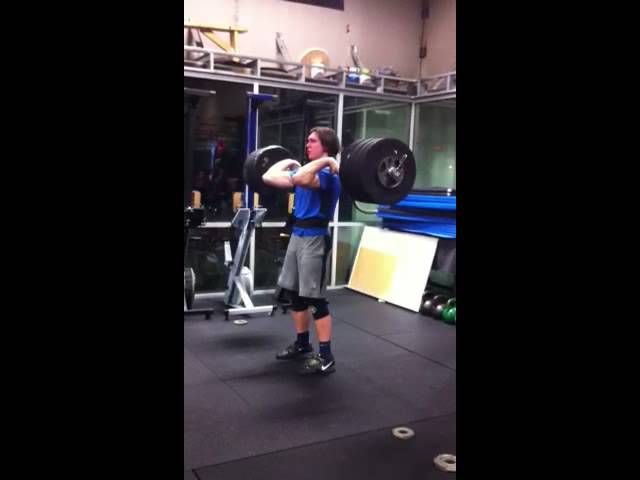 Tyrell Mara 295 PR Clean and Jerk at Outlaw Way Camp #1