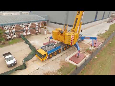 Concord Cranes Group - 750t mobile crane - Chiller installat