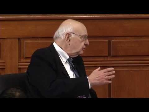 Paul Volcker at Harvard Law School: on preventing bank failures