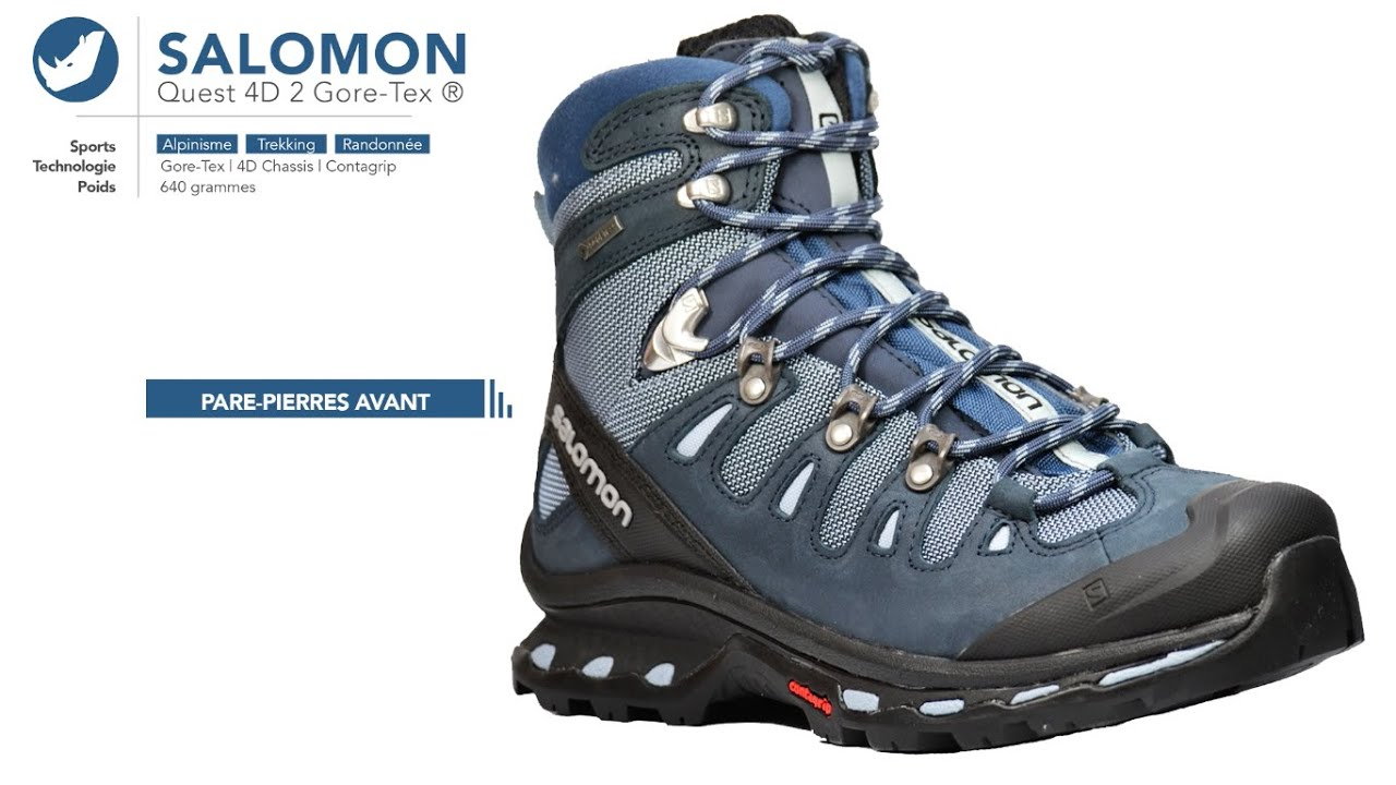 code promo 9d0b3 56289 Chaussure de randonnée | Salomon - Quest 4D2 Gore-Tex | Femme