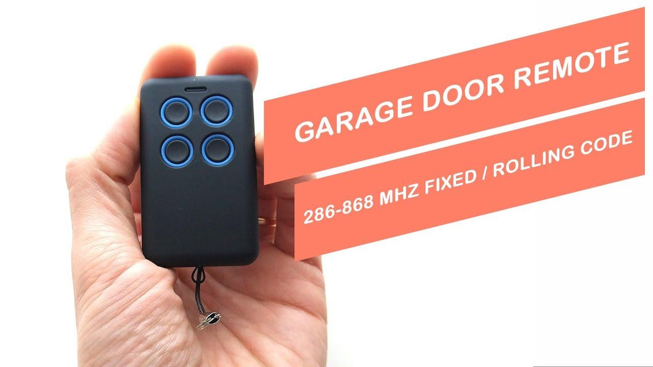 Unboxing Garage Door Remote 286 868 Mhz Fixed Roling Code Wiring Universal