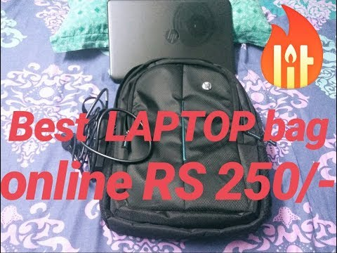 Best HP Laptop bag online for Rs 250/- Cheapest and best quality laptop bag on Flipkart (hindi me)