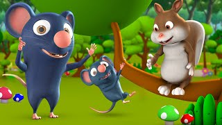 Do Chuhe aur Gilahari Hindi Moral Stories for Kids 3D Animated दो चूहे और गिलहरी कहानी Rat Tales