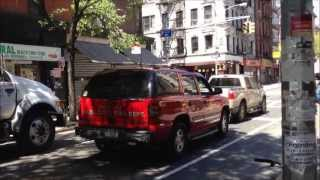 GLEN COVE FIRE DEPARTMENT 1ST ASSISTANT CHIEFS SUV NEAR SUFFOLK & RIVINGTON STREETS NEW YORK CITY.