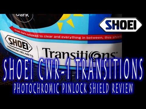 Gear Review | Shoei CWR-1 Transitions Photochromic Pinlock Shield
