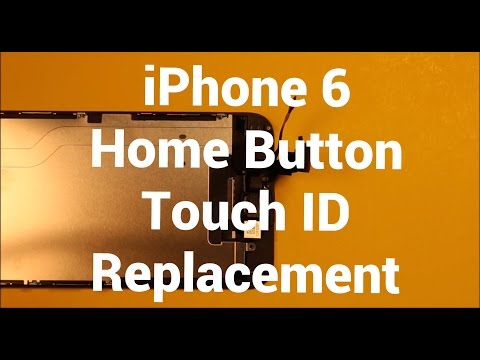 reputable site 25bde 39144 iPhone 6 Home Button Replacement How To Change - YouTube