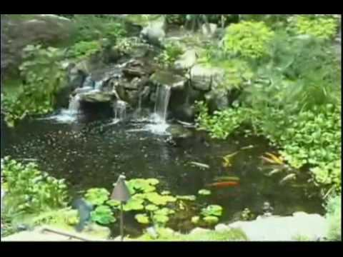 Ponds waterfalls landscaping designs Deck and Patio