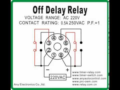 off delay relay 2 youtube Off Delay Relay Circuit Live Well Timer Wiring Diagram