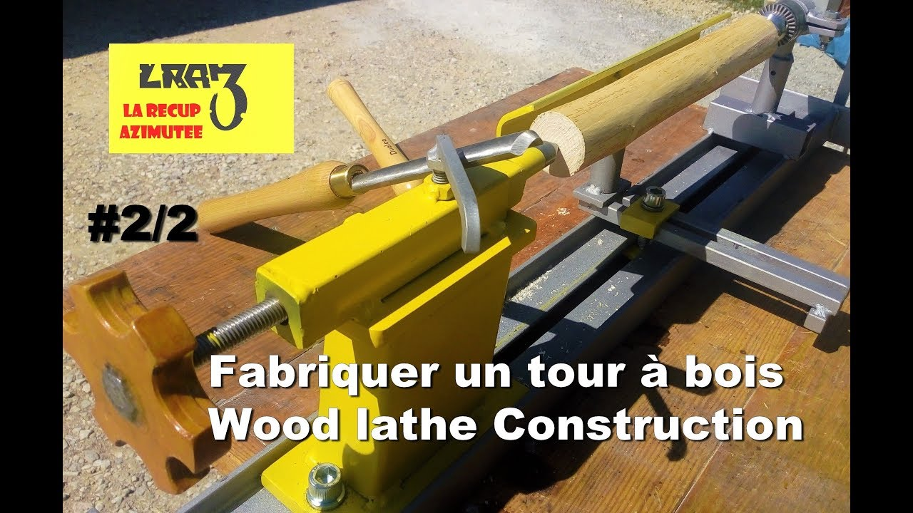 tour bois maison 2 2 homemade wood lathe 2 2 youtube. Black Bedroom Furniture Sets. Home Design Ideas