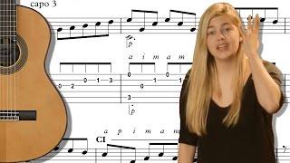 TUTO - JE VOLE version Louane - FINGERSTYLE ARPEGGIO + MELODY GUITAR