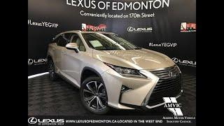 Tan 2019 Lexus RX 350L Luxury Package 6 Passenger Review Edmonton Alberta - Lexus of Edmonton New