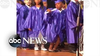 5-year-old's dance moves steals the show at pre-K graduation
